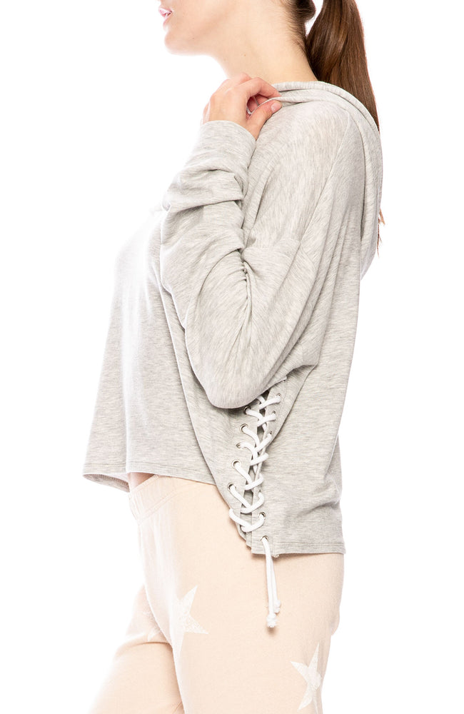 Generation Love Tessa Side Lace Up Hoodie at Ron Herman