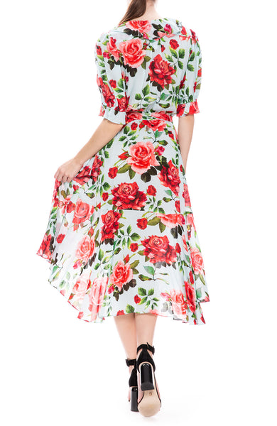 Icons Floral Print Cha Cha Wrap Dress at Ron Herman