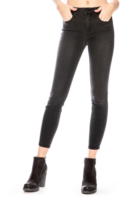 The Margot High Rise Ankle Skinny in Dark Graphite