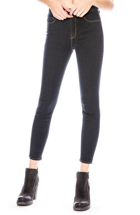 The Margot High Rise Ankle Skinny in Midnight