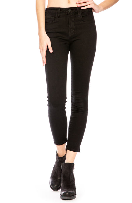 The Margot High Rise Ankle Skinny in Noir