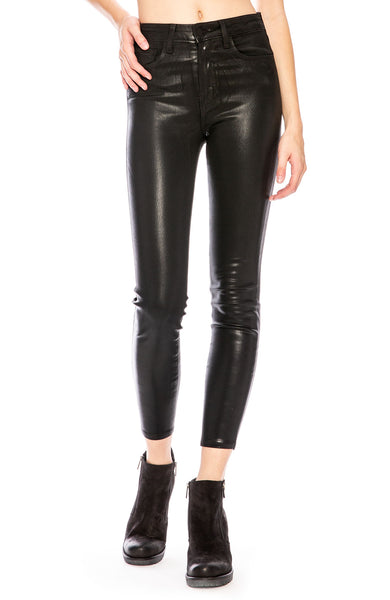 L'Agence Margot Coated Skinny Jean in Black at Ron Herman