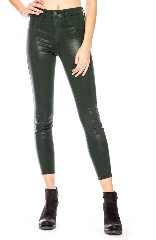 L'Agence Margot Coated Skinny in Evergreen at Ron Herman