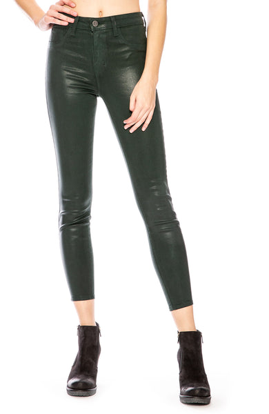 c7ba796ef8 L Agence Margot Coated Skinny in Evergreen at Ron Herman