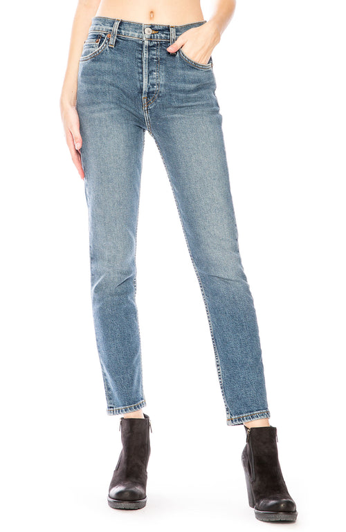 RE/DONE Originals High Rise Ankle Crop Jean at Ron Herman