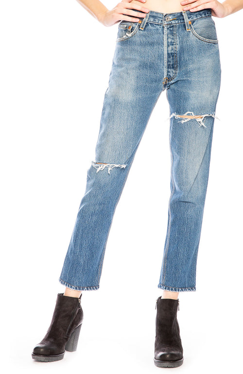 RE/DONE Levi's High Rise Ankle Crop Jean