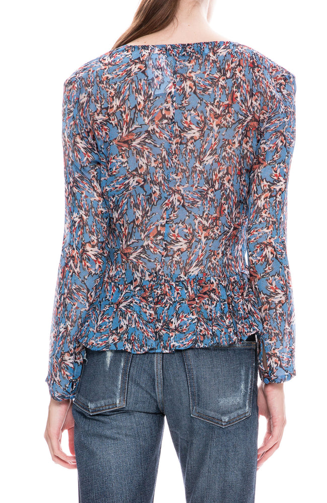 Iro Gosh Lace Up Front Blouse at Ron Herman