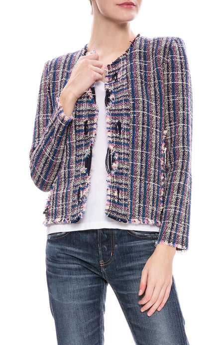 Frannie Tweed Crop Jacket