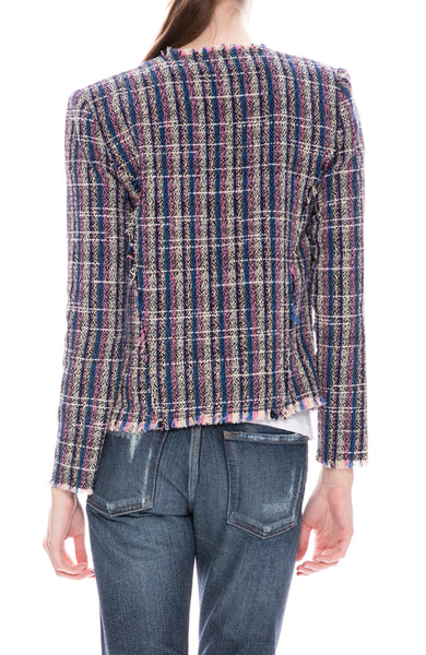 Iro Frannie Tweed Crop Jacket at Ron Herman
