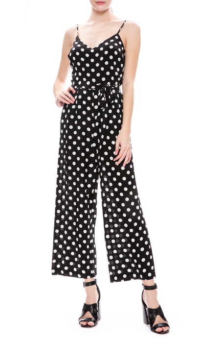 Camisole Dot Jumpsuit