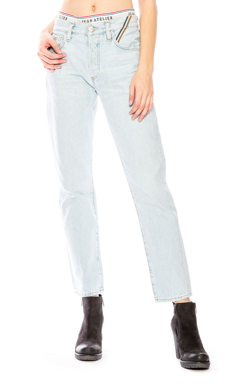 Jean Atelier Brief Mid-Rise Straight-Leg Jeans at Ron Herman