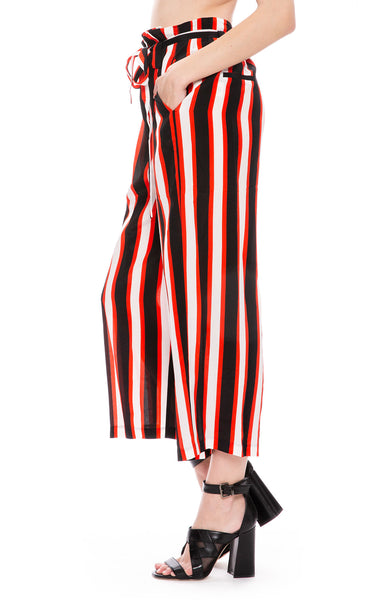 L'Agence Striped Paper Bag Pants at Ron Herman