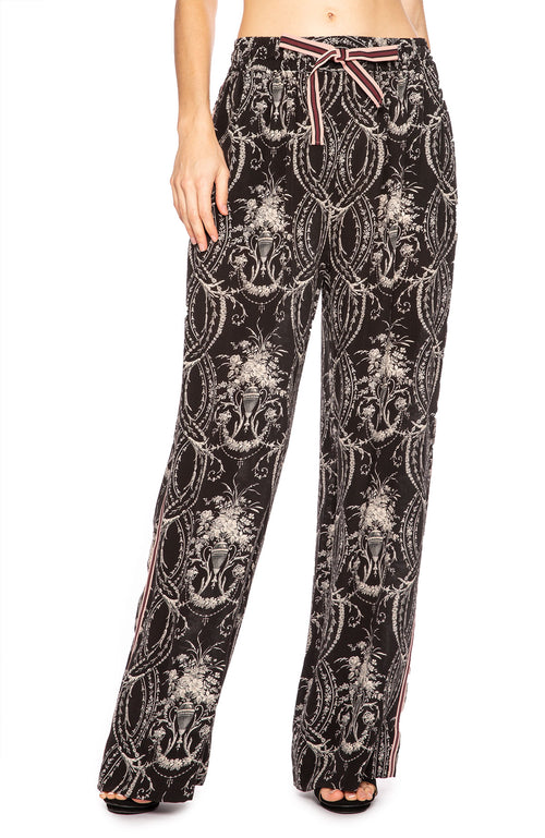 Zimmermann Fleeting Track Pant in Black Filigre at Ron Herman