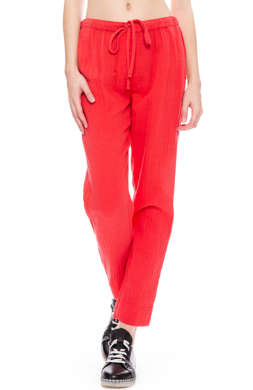 Xirena Jordyn Gauze Pants in Red Rock at Ron Herman