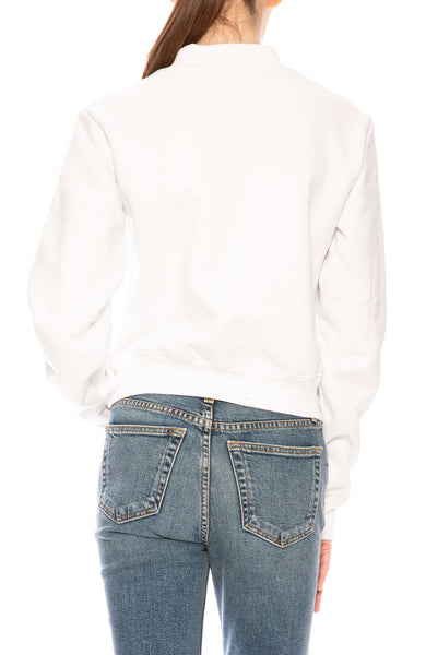 Kendall + Kylie  Malibu Rainbow Crop Sweatshirt in White at Ron Herman