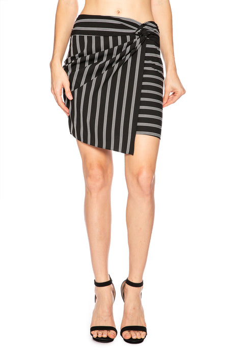Mini Aida Stripe Wrap Skirt