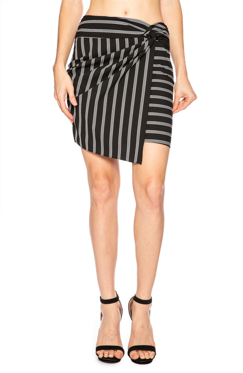 Veronica Beard Aida Striped Mini Wrap Skirt