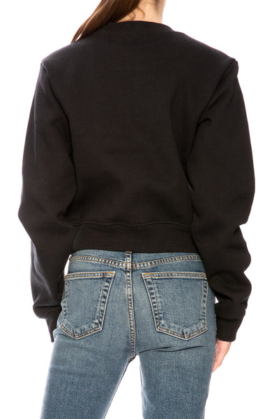 Kendall + Kylie  Legend Rainbow Crop Sweatshirt in Black at Ron Herman