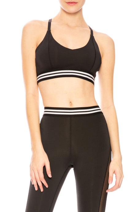 Stripe Tape Sports Bra
