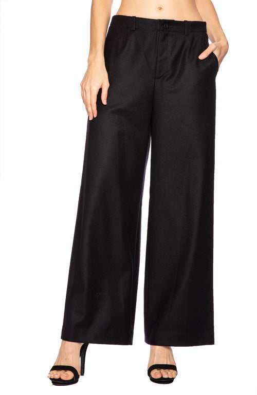 Tomorrowland Womens Wool Pajama Trousers in Navy at Ron Herman