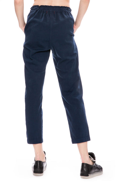 Xirena Rex Twill Side Stripe Pants in Navy Tide at Ron Herman