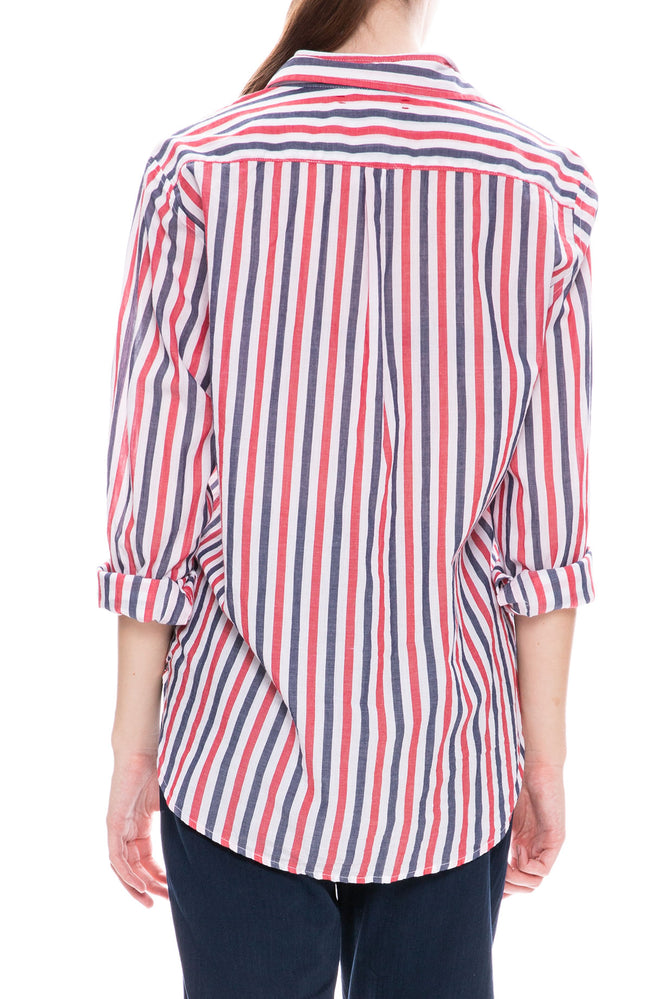 Xirena Beau Button Down Shirt in Bastille Stripe at Ron Herman