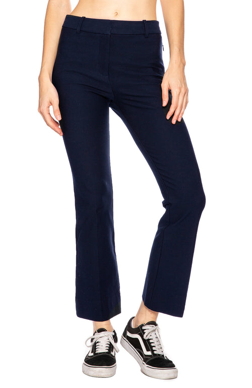 Derek Lam 10 Crosby Cropped Flare Trouser Pant in Midnight