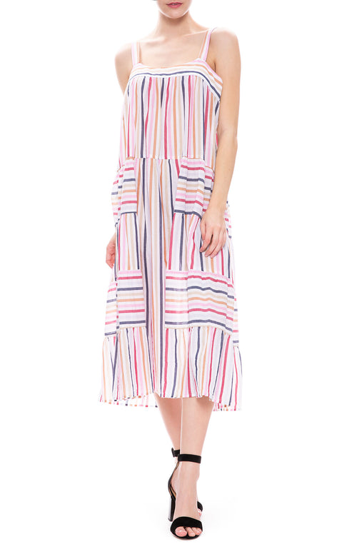 Xirena Dylan Tiered Dress in Le Marais Stripe at Ron Herman