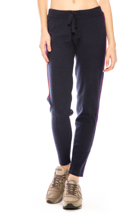 Rory Metallic Trim Cashmere Sweatpants