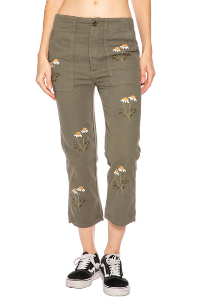 The Great Daisy Embroidered Army Pant at Ron Herman