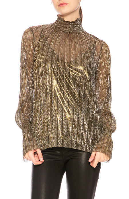 Paola Sheer Metallic  Blouse