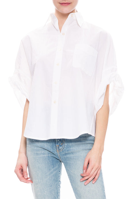 Oversized Rolled-Sleeve Shirt