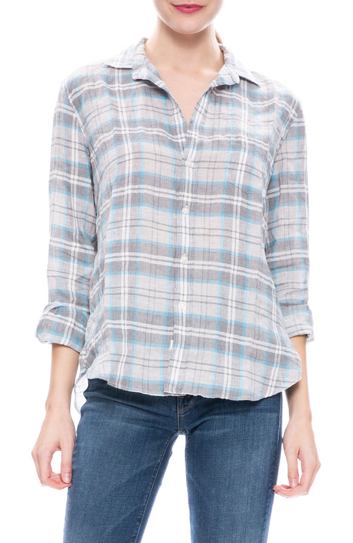Eileen Linen Plaid Button Down Shirt
