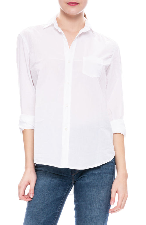 Frank & Eileen Eileen Light Poplin Shirt at Ron Herman