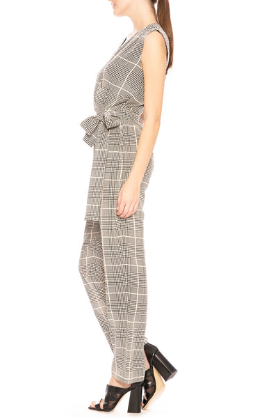 L'Agence Julia Plaid Jumpsuit at Ron Herman
