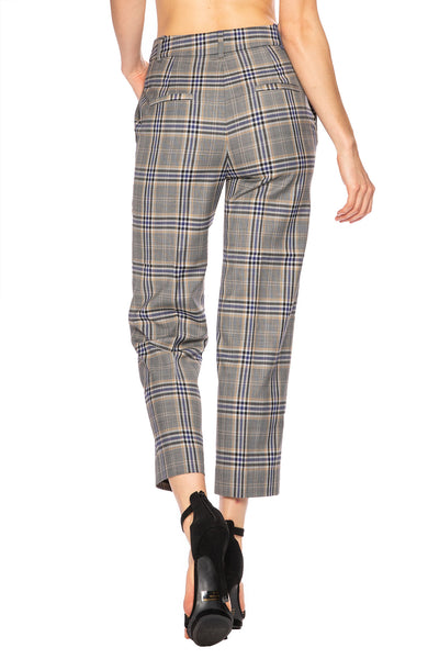 Tibi Taylor Lucas Suiting Plaid Pant at Ron Herman