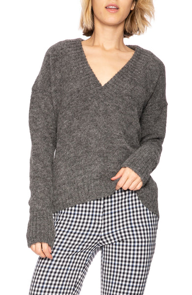 Tibi Alpaca V-Neck Sweater at Ron Herman