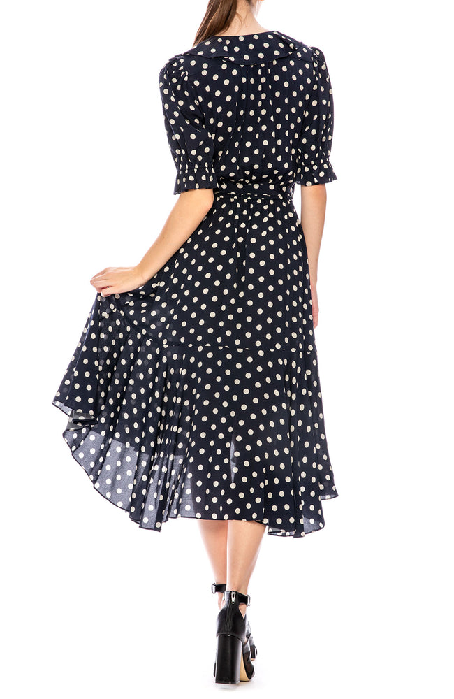 Icons Polka Dot Cha Cha Wrap Dress at Ron Herman