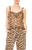 Icons Leopard Print Ruffle Teddy Cami at Ron Herman
