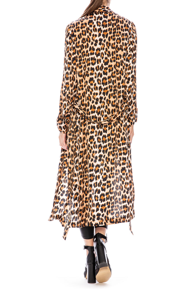 Icons PJ Draper Leopard Print Robe at Ron Herman