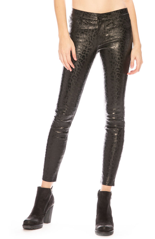 RtA Prince Leopard Leather Pants at Ron Herman