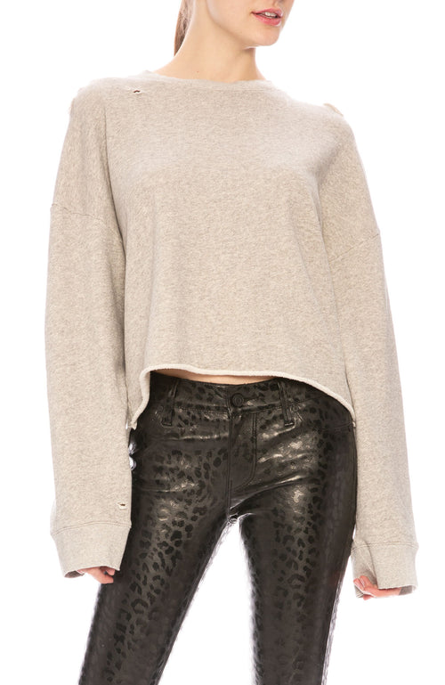 RtA Emmet Distressed Sweatshirt at Ron Herman