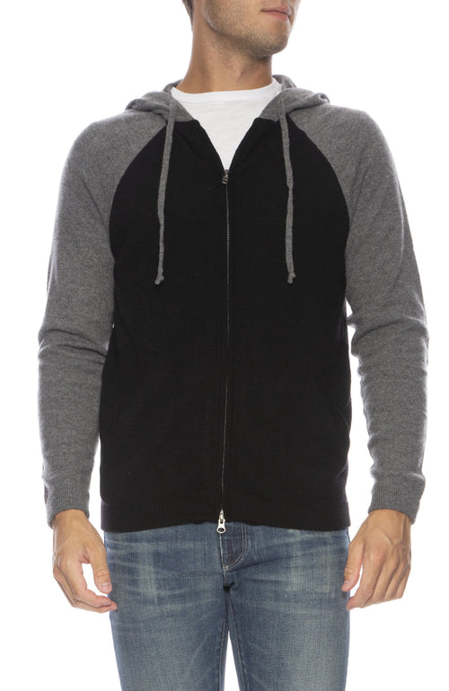 Exclusive Colorblock Cashmere Zip-Up