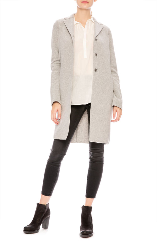 Harris Wharf Boxy Coat in Light Grey at Ron Herman