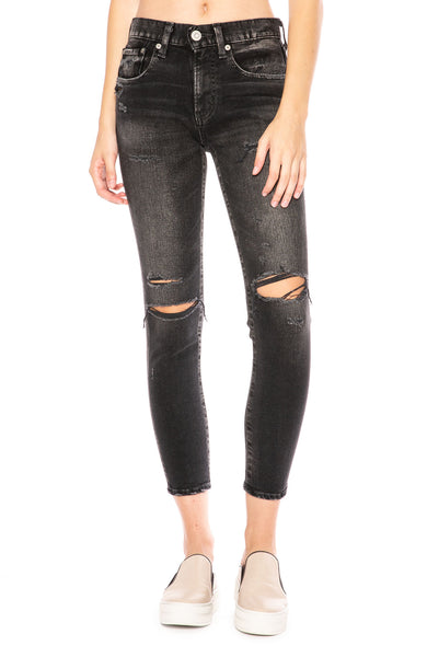 Moussy Vintage Comfort Fillmore Skinny Jean in Black at Ron Herman