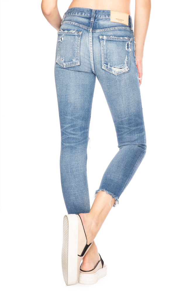 Moussy Vintage Comfort Ridgewood Skinny Jean in Light Blue at Ron Herman