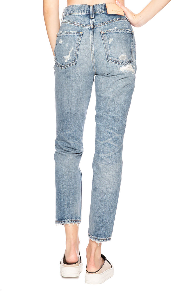 Moussy Vintage MV Stark Boy Skinny Jean in Blue at Ron Herman