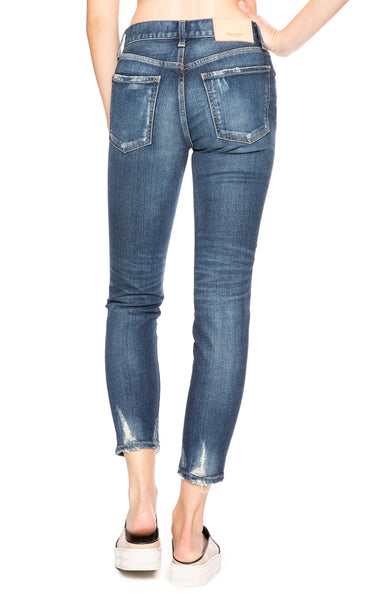 Moussy Vintage Comfort Velma Skinny Jean in Dark Blue at Ron Herman