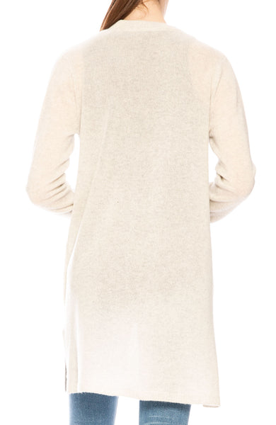 ATM Cashmere Cardigan in Blizzard at Ron Herman