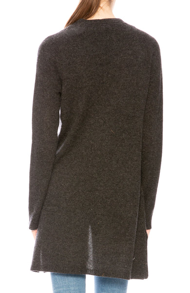 ATM Cashmere Cardigan in Charcoal at Ron Herman